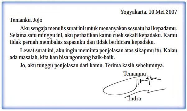 Catatan Ibnu Bahasa Indonesia Surat Dinas Dan Surat Pribadi