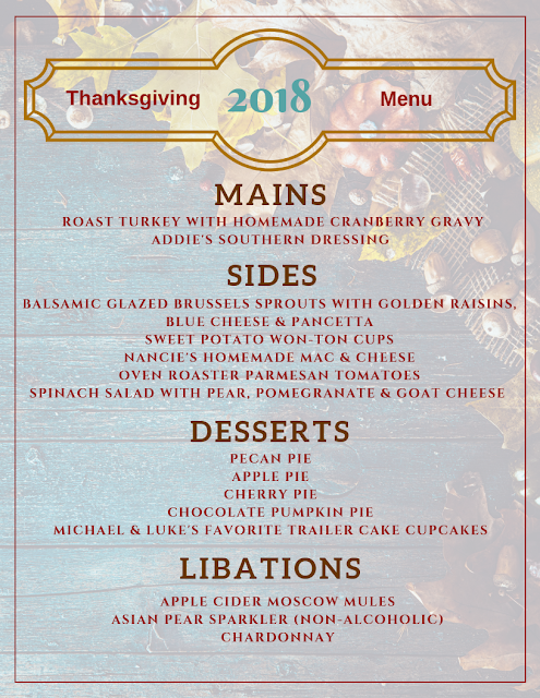 OUR Thanksgiving Menu