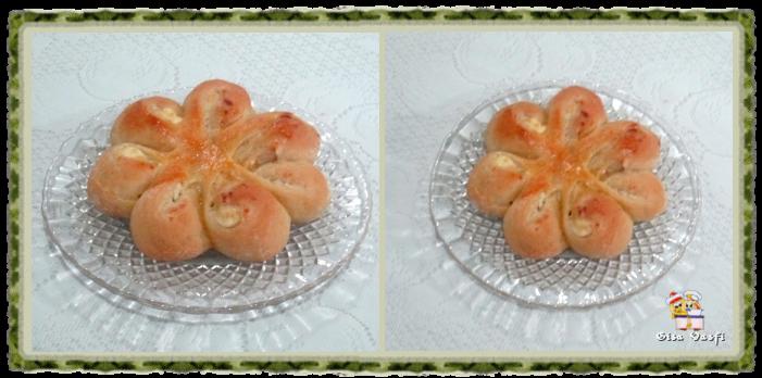 Pão recheado com queijo cremoso 2