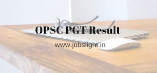 OPSC PGT Result 2017