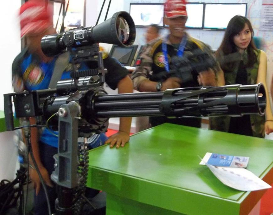 SMML Gutling gun buatan Dislitbang TNI AD