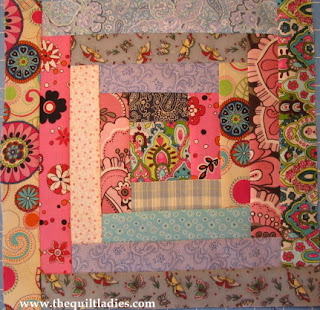 free tutorial on log cabin quilt block