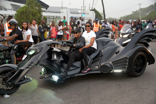 Donald Duke and Wife on Bat-Bike