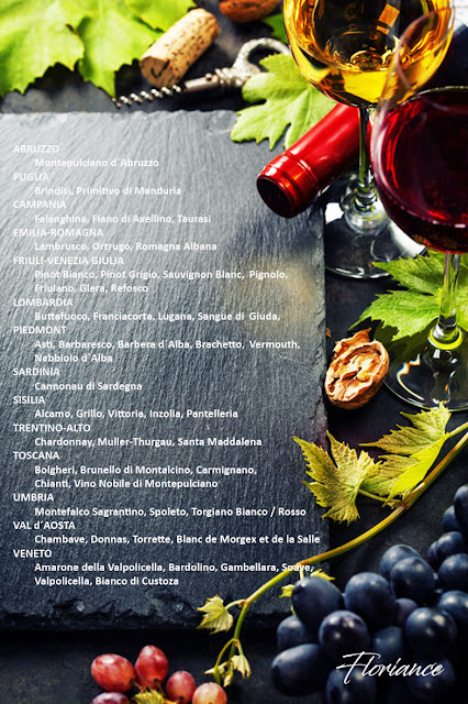 Italian regions and some of well known wines they produce