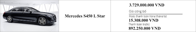 Giá xe Mercedes S450 L Star 2019 tại Mercedes Trường Chinh