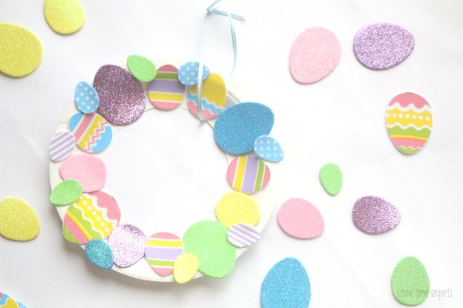 easy Easter wreath craft for kids