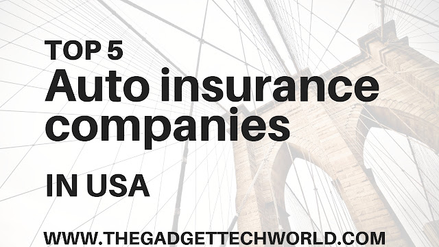 Top 5 auto insurance companies in the USA 'Top 5 auto insurance companies in the USA' | Hundreds of companies sell car insurance, in this article, we find out top five auto insurance companies & best car insurance companies If a farmer, Geico, Progressive, and State Farm come to mind first, that makes sense: Together, these four companies make up 50% of the personal auto insurance market in the U.S.