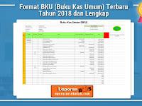 Format BKU (Buku Kas Umum) Terbaru Tahun 2018 dan Lengkap