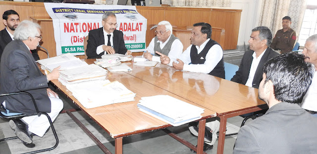 896 cases disposed of in the National Lok Adalat of District Palwal