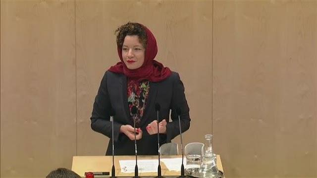 Austrian lawmaker wears headscarf to Parliament in protest at hijab ban