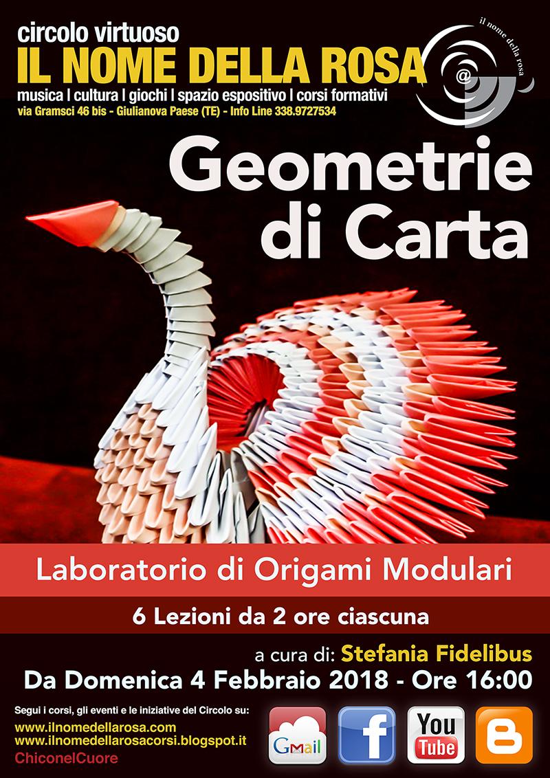 """GEOMETRIE DI CARTA"" Laboratorio di Origami modulari"