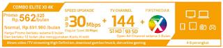 Promo First Media Paket Combo Elite X1 4K