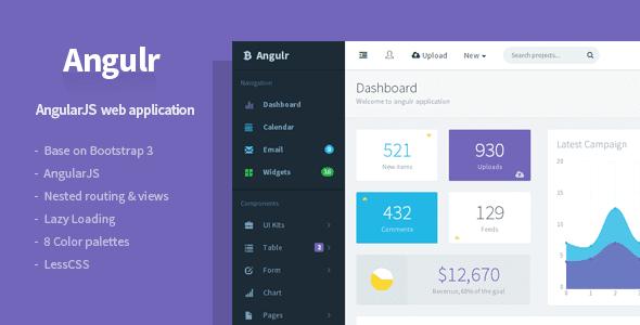 AngularJS Admin Web App Template