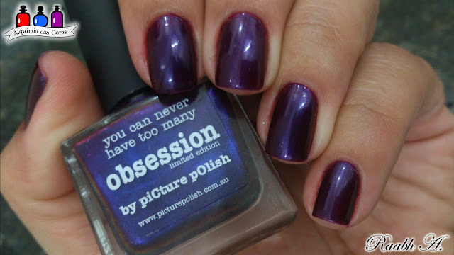 Unhas, Picture Polish, Obsession, Vampy Chamaleons, Roxo, Purple, Shimmer, Duochrome, SB034, Raabh A.,