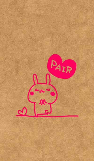 Pair kraftpaper (lady)
