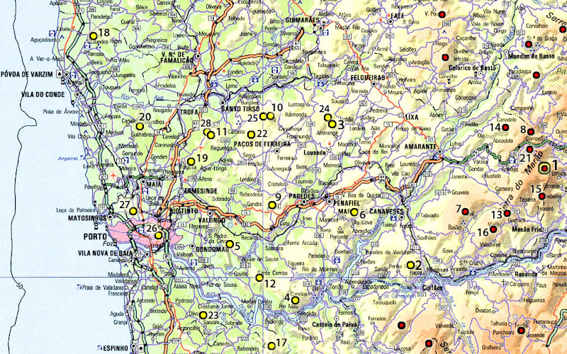 mapa dos concelhos do distrito do porto Lista das montanhas do distrito do Porto | Garcias   Montanhas de  mapa dos concelhos do distrito do porto