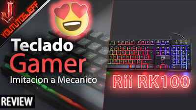 El Mejor Teclado Gamer Barato - Imitación a teclado mecánico en español - Rii RK100