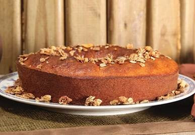 Receita de bolo de Granola e Mel
