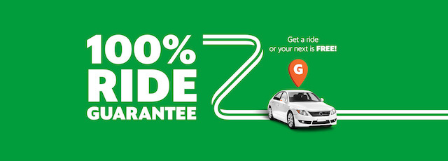 100% Ride Guarantee, Get a ride or your next is Free!