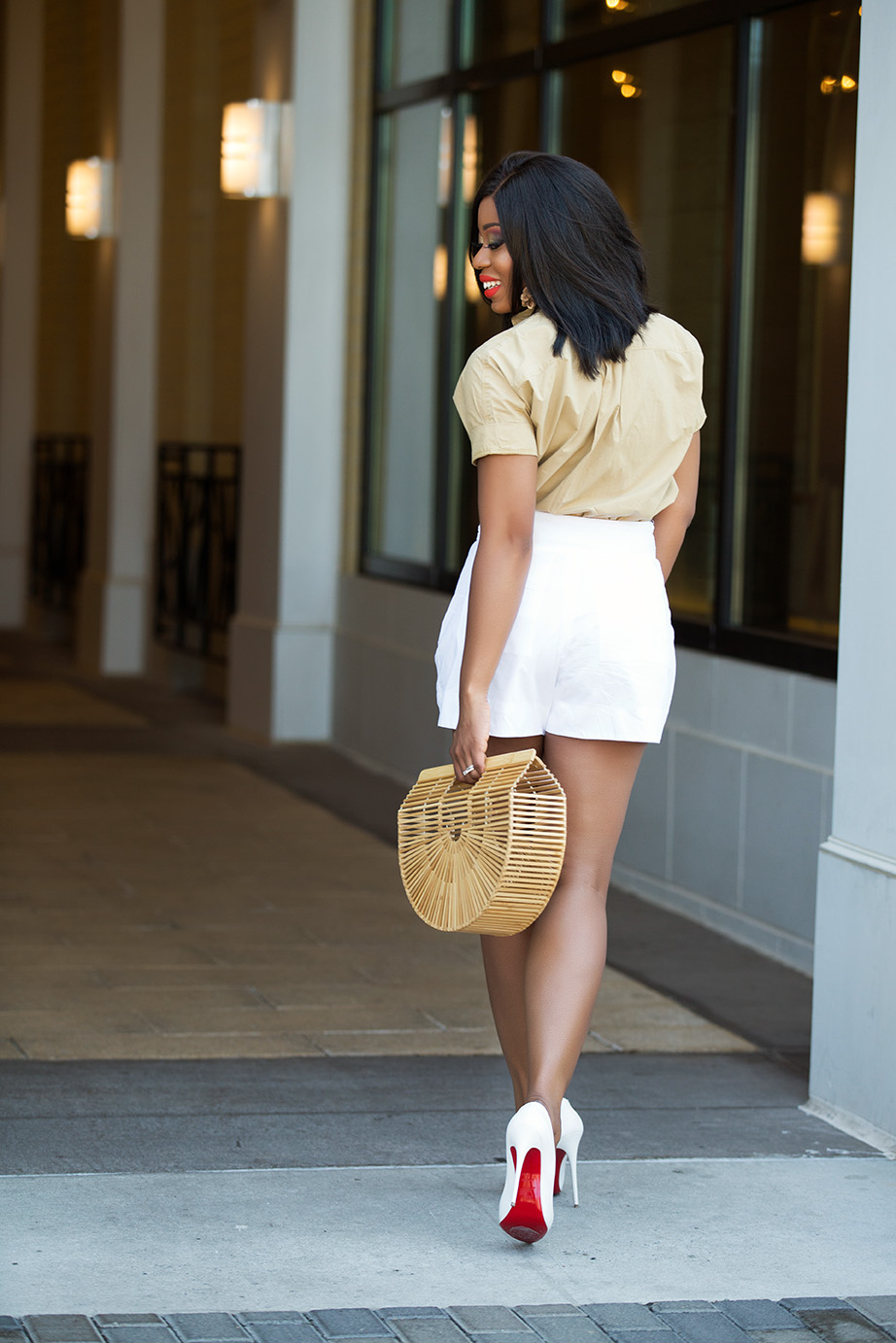 summer neutral, white pumps, www.jadore-fashion.com
