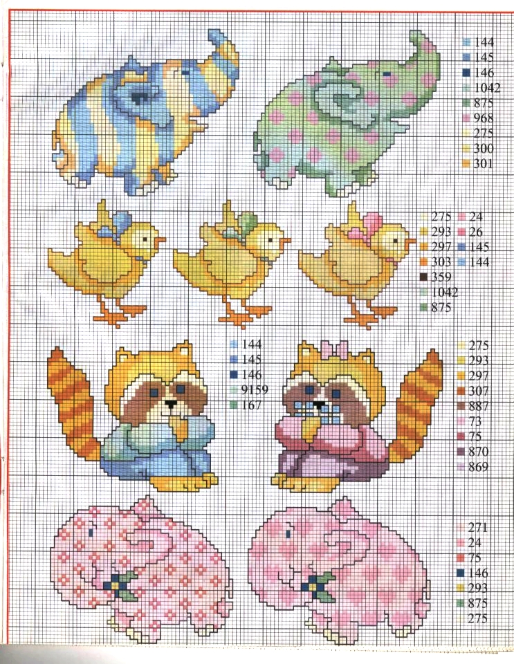 Ricami e schemi a punto croce gratuiti schemi a punto for Animali a punto croce per bambini