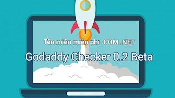 Godaddy Checker 0.2 Beta , công cụ đăng ký tên miền và hosting miễn phí trên Godaddy