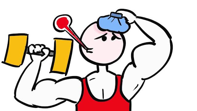 ควรออกกำลังกายเมื่อมีอาการป่วยหรือไม่?