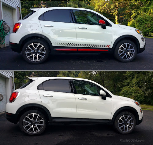 Fiat 500X before and after
