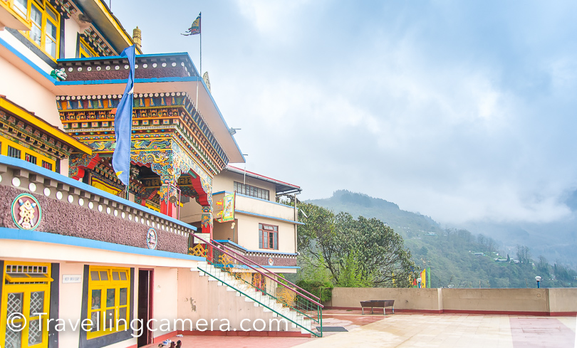 Enchey Monastery :  There are plenty of Monasteries in Sikkim and Enchey comes of the way when you want to go down to Gangtok town from Ganesh Tok. Beautifully built but if you have recently seen Rumtek, it may not really enjoy being here. And all that depends what exactly is happening in Monastery at that point. We were lucky to witness prayers at Enchey and that was certainly a good experience.