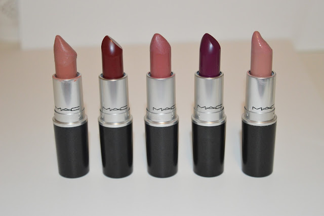 top 5 mac lipsticks for fall rebel, blankety, twig, diva, velvet teddy