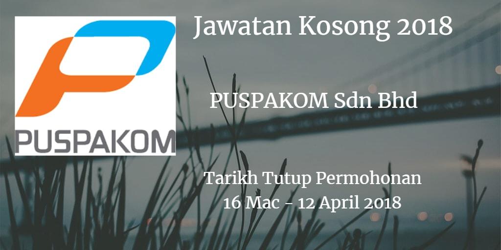 Jawatan Kosong PUSPAKOM Sdn Bhd 16 Mac - 12 April 2018