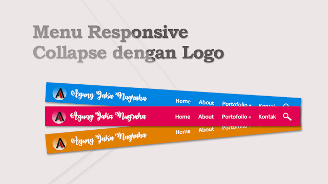 Menu Collapse Responsive dengan Logo