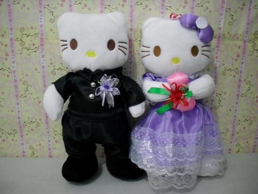 Cake N Gift Boneka Hello Kitty Wedding Purple
