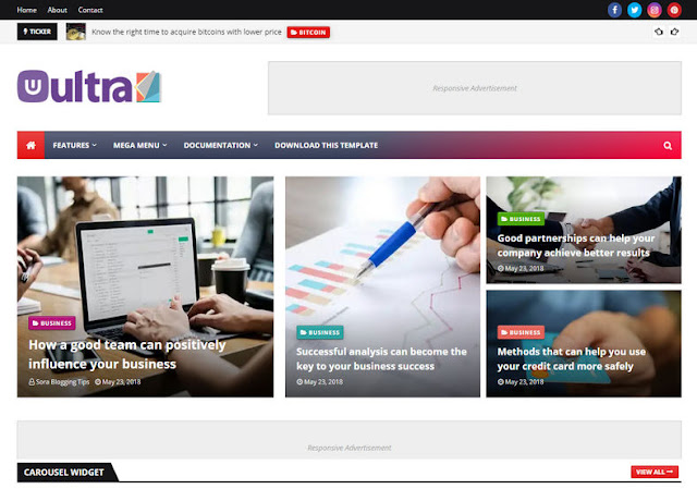 Download UltraMag Blogger Template latest 2020