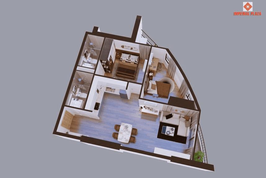 Chi tiết căn hộ A2 dự án Sky View Giải Phóng