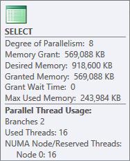 Parallel hash memory grant