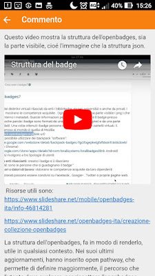 Moodle mobile open badges
