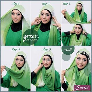 Lebih Serasi dengan Tutorial Hijab Gradasi