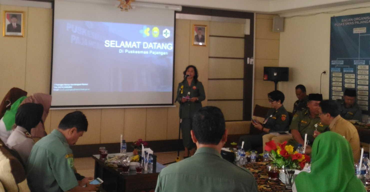 Senin 16 April 2018 tempat aula Puskesmas Pajangan dilaksanakan kunjungan penilaian Puskesmas berprestasi tingkat Propinsi DIY th 2018
