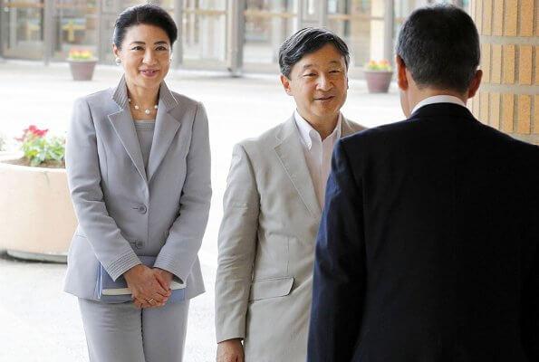 Emperor Naruhito and Empress Masako visited popular resort Kokumin-shukusha Unomisaki in Hitachi