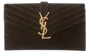 Monogramme Small Velvet Clutch Bag