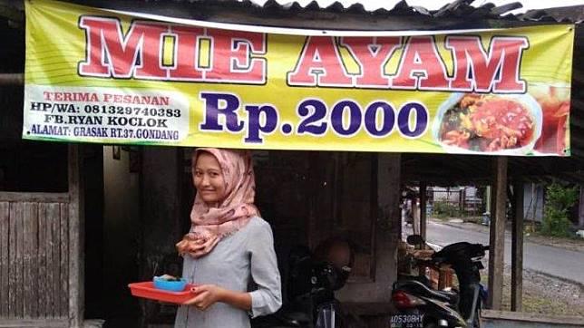 Ini Penjelasan Rika yang Sempat Viral Karena Menjual Mie Ayam Hanya 2000