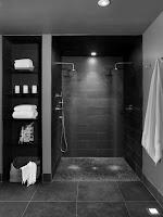 ducha en color negro