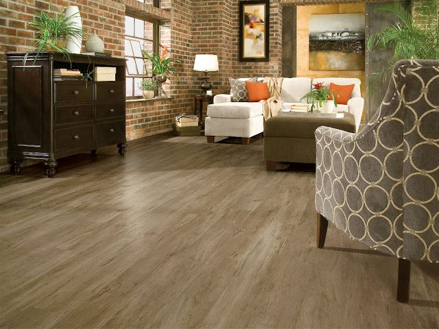 This wood floor alternative looks like wood but carries the easy maintenance of tile.