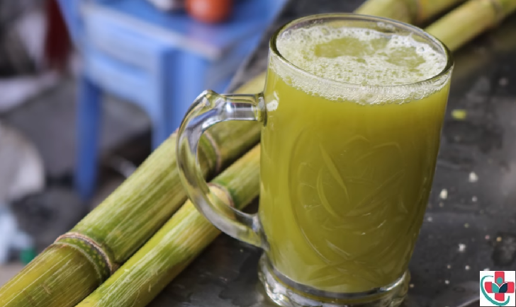 a glass of sugarcane juice