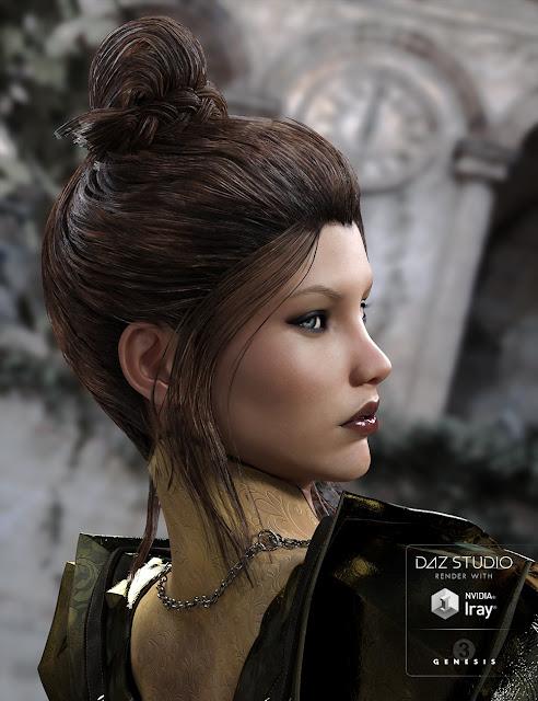 BlueBell Hair for Genesis 3 Female