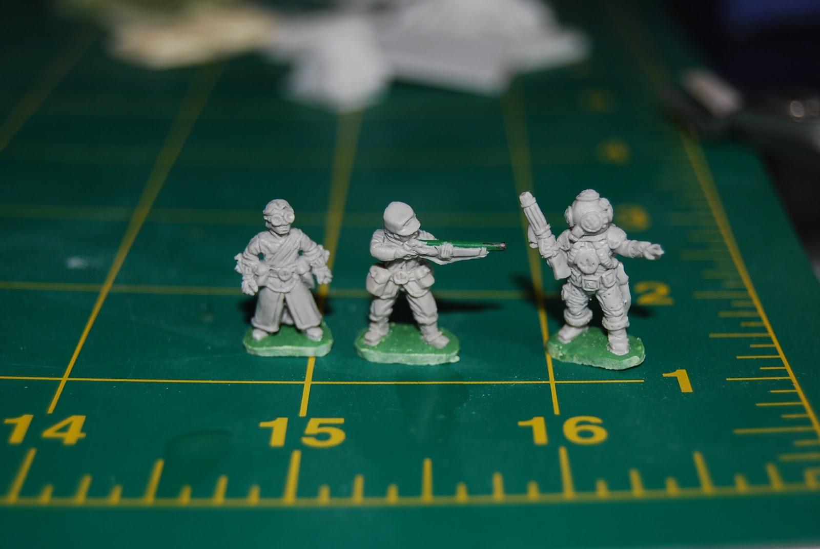 Rebel Minis - Personajes Steampunk 15mm