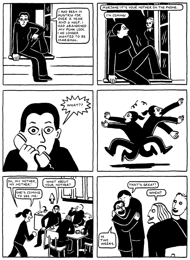 Read Chapter 6 - The Horse, page 45, from Marjane Satrapi's Persepolis 2 - The Story of a Return