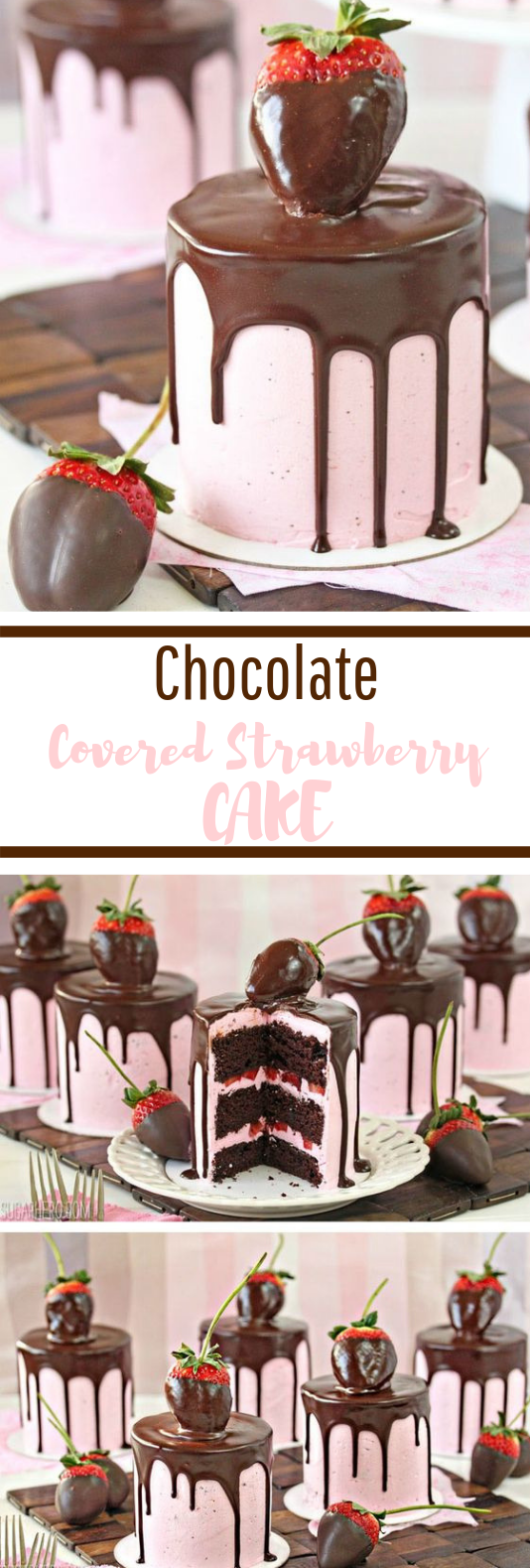 Chocolate-Covered Strawberry Cakes #dessert #sweettreat