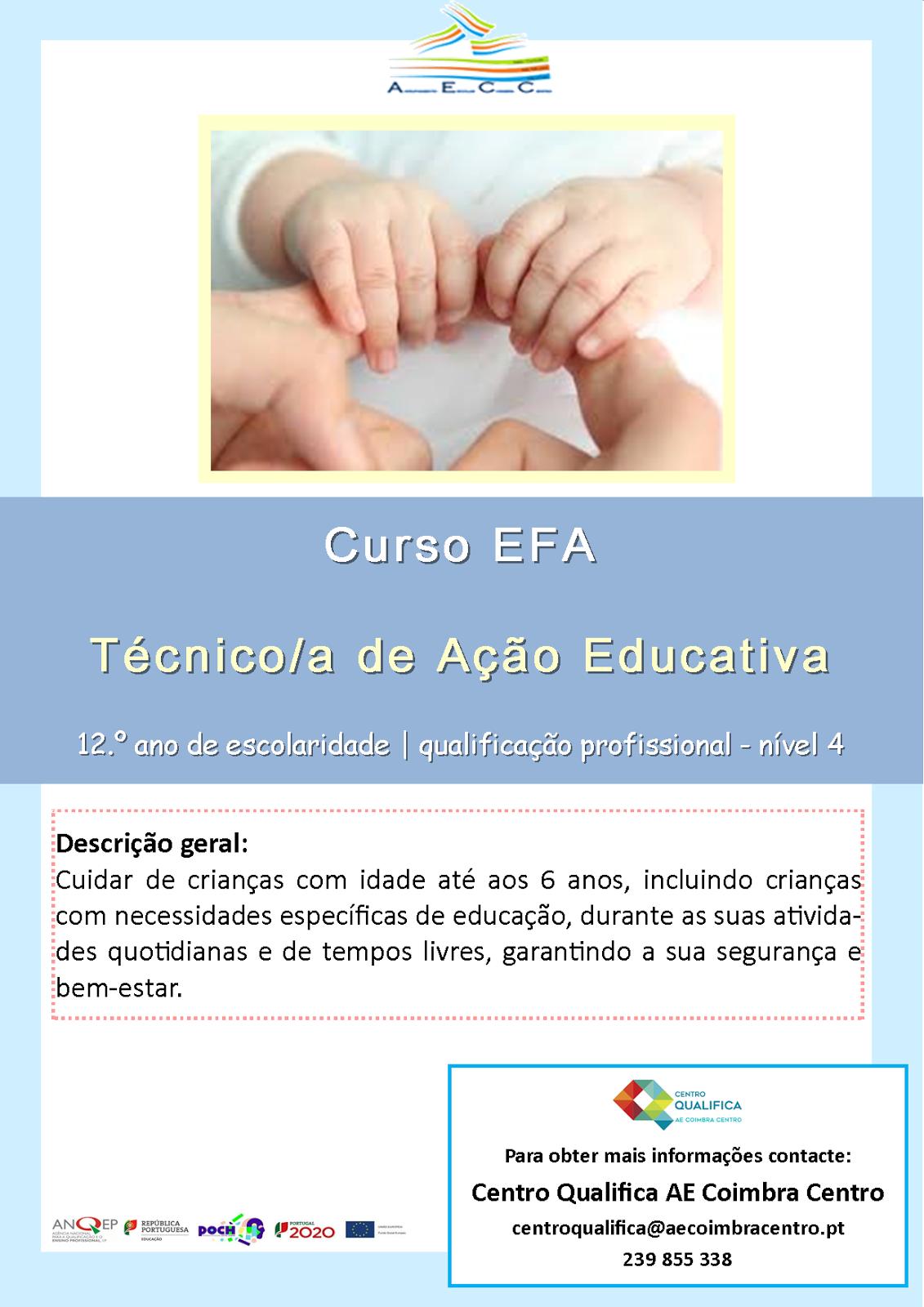 curso efa de ação educativa em Coimbra